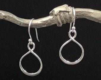 Eternity Loop hanging earrings Sterling Silver