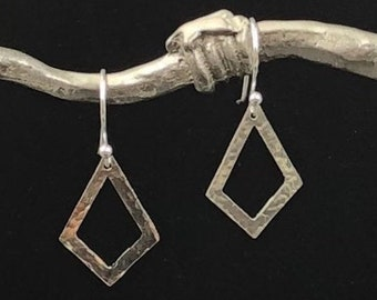 Sterling Silver Diamond Hanging Earrings