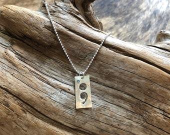 Semicolon Necklace, Semicolon Jewelry, Semicolon, Mental Health Awareness