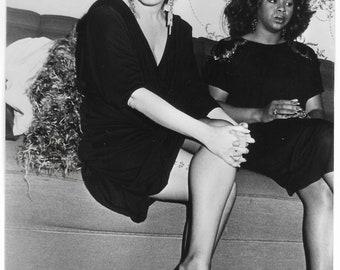 Original French Press Vintage Photograph Of Film Star & Singer Bette Midler