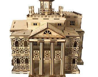 d4e1cd104 Haunted House - Wooden Model, 3D Puzzle, Laser Engraved, Miniature, Wedding  Gift, Birthday Party, Collectable, Keepsake, Kids Toy, Gift