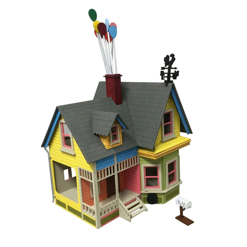 Up House Dollhouse Wooden Kit Games Classicobio