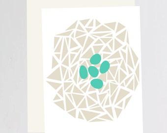 Robins Egg print Greeting Card