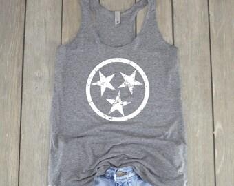 Stars Tank Top | Tennessee Tank Top - Stars Shirt - Tennessee Shirt - Racerback Tank Top