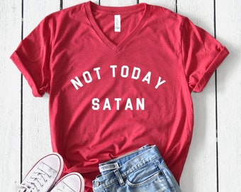 a7e21e886ba5a Not today satan | Etsy