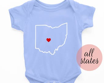Custom Onesie | State Onesie - New baby outfit - baby boy onesie - new baby girl outfit - new baby - baby shower gift - baby clothing