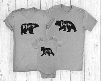 Mama Bear - Papa Bear - Baby Bear - Little Bear - Family Bear Set - Mother's Day