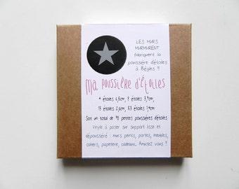 My Stardust - 78 stickers stars grey medium pouch