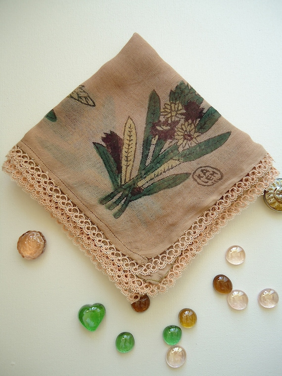 Bronze pink traditional turkish headscarf with tat