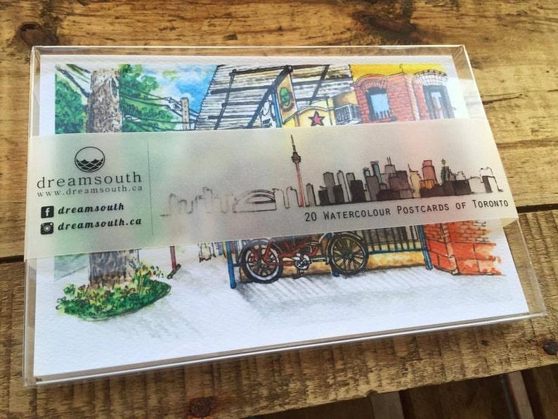 Toronto-themed Watercolor Postcard Box Set 20 different image 0