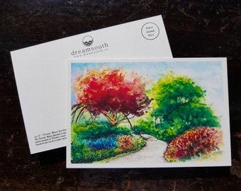 Toronto Postcard / Toronto Art / Toronto Themed Postcards / Watercolor Postcard /  Toronto Music Garden