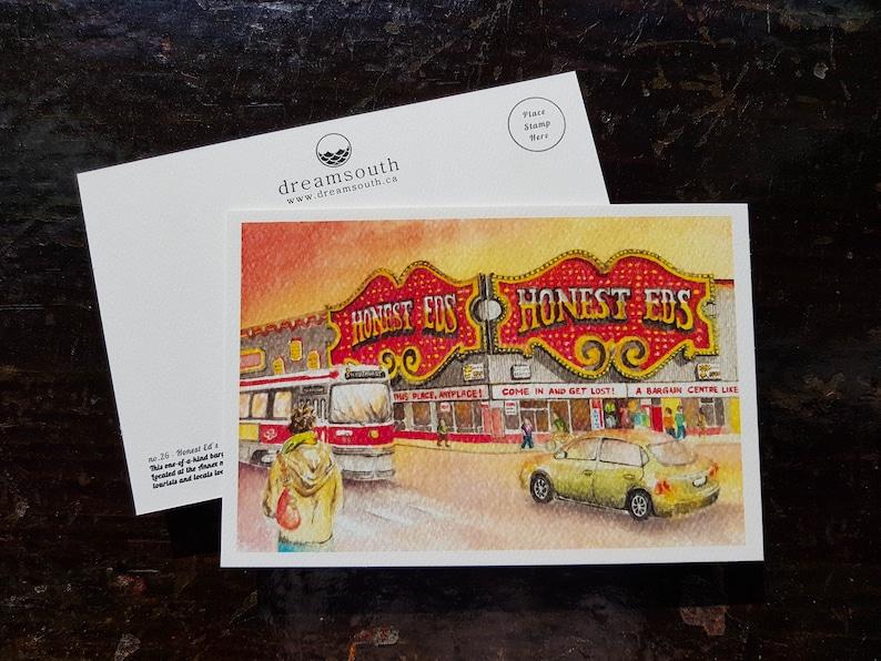 Honest Eds Postcard / Toronto Postcard / Toronto Art / Toronto image 0