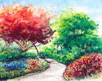 Toronto Art / Toronto Music Garden / Watercolor Giclee Print / Giclee Print / Toronto Urban Sketch / Toronto Music Garden (Limited Edition)