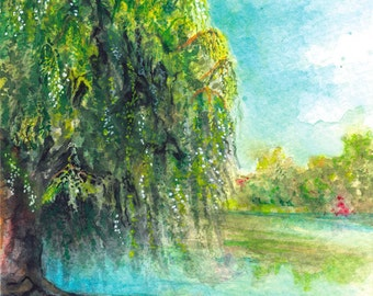 Toronto Art // Watercolor Giclee Print // Giclee Print of Original Watercolor Painting - Toogood Pond Park (Limited Edition)
