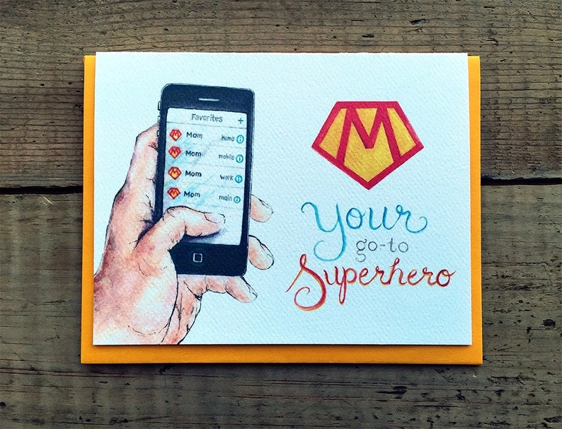 Mothers Day / Mothers Day Card / Superhero Card / Mom is a image 0