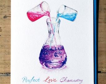 Wedding Card / Valentines Day Card / Love Card / Romantic Card / Wedding / Love / Anniversary Card / Perfect Love Chemistry