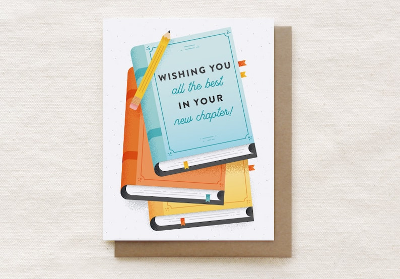 card for coworker leaving good luck new job card farewell