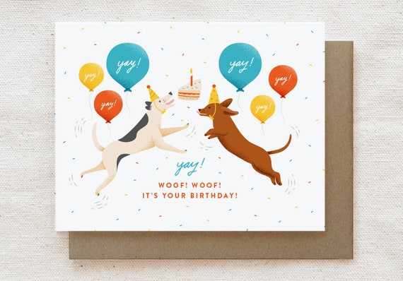Funny Dog Birthday Card Funny Cute Birthday Card For Best Etsy
