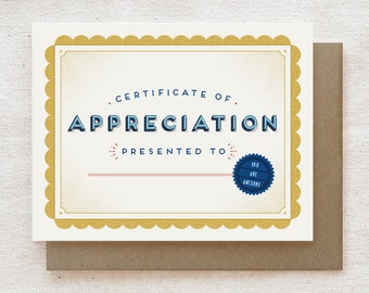 Unique Thank You Card, Friendship Card, Thank You Card for Coworkers, Thank You card for Friend, Thank You Notes - Appreciation