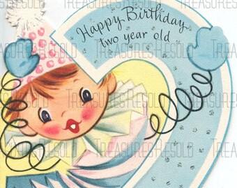 Happy Birthday 2 Year Old Clown In A Box Card 202 Digital Download