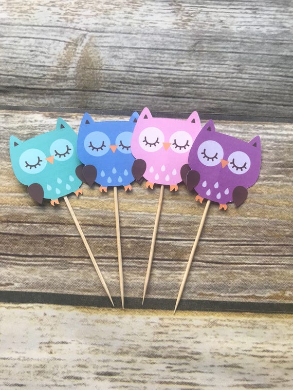 Owl Theme Party Owl Cupcake Sticks Owl Party Owl Baby Shower Owl Decorations You Re A Hoot Party