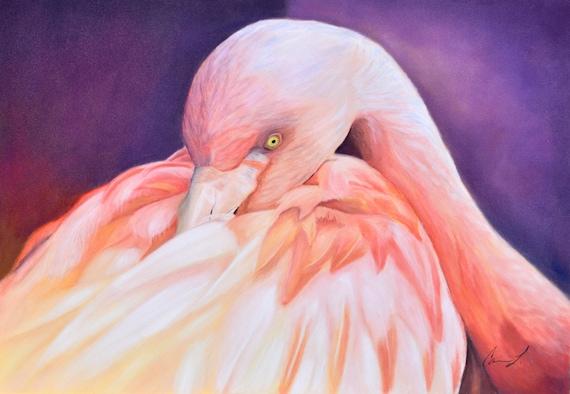 Flamingo Sunrise - Digital Download Art