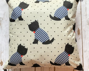 Silly Scottish Terrier pillow case
