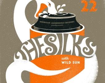 The Silks, Wild Sun gig poster  // Knickerbocker Cafe, Westerly RI