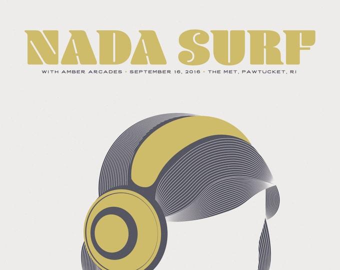Featured listing image: Nada Surf // The Met, RI 16x20 screenprint.