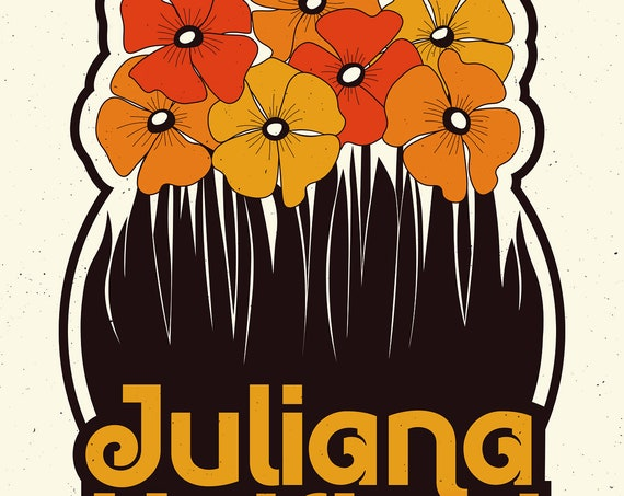 Juliana Hatfield 18x24 Screenprinted poster