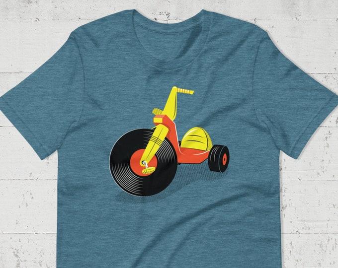 Featured listing image: Vinyl Big Wheel Tee (UNISEX SIZES)