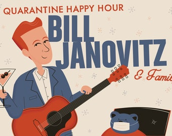 Bill Janovitz Quarantine Happy Hour Poster