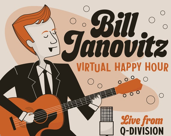 Bill Janovitz at Q-Division poster (not the signed one!)