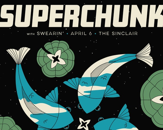 Superchunk 18x24 Screenprinted poster