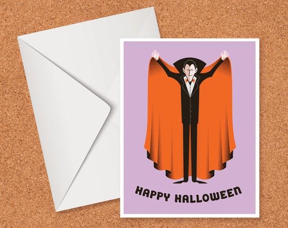 Dracula Happy Halloween Card