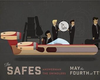 "The Safes Gig Poster // TT The Bear's, Cambridge, MA 19""x13"""