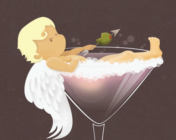 Cupid Martini Card