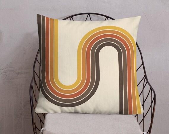 70s Rainbow Premium Pillow