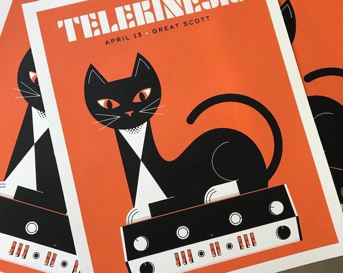 Featured listing image: Telekinesis // Great Scott, Allston, MA, 16x20 screenprint.