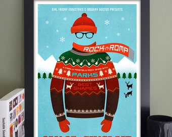 """Rock 'n' Romp Gig Poster with Parks, Bent Shapes // The Sinclair, Cambridge, MA 13""""x19"""""""