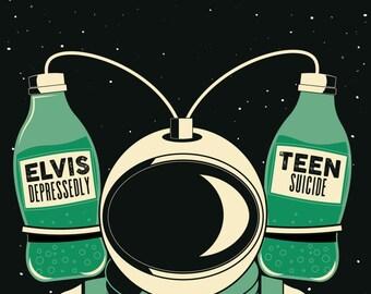 Elvis Depressedly / Teen Suicide // ONCE, Somerville, MA