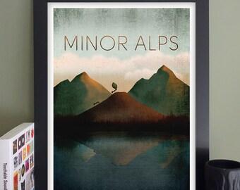 "Minor Alps Gig Poster // The Sinclair, Cambridge, MA 13"" x 19"""