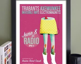 "Trabants Poster // Radio, Somerville, MA 13""x""19"""
