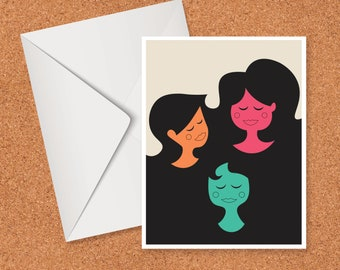 Three Ladies Greeting Card