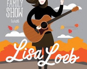 Lisa Loeb Gig Poster, The Sinclair, Cambridge MA