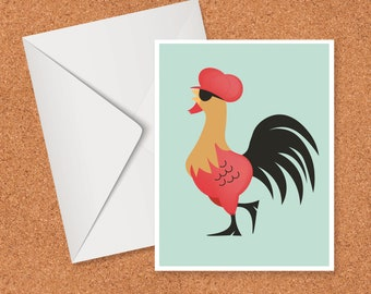 Funky Chicken card