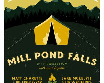Mill Pond Falls Gig Poster // Great Scott, Allston