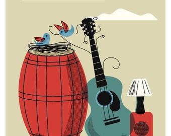 2 Birds, a Barrel and a Guitar