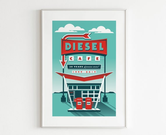 Diesel Cafe 20th Anniversary Poster