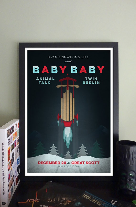 Baby Baby Gig Poster at Great Scott, Allston, MA